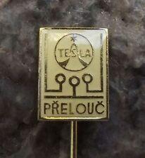Antique Tesla Electronics PCB Printed Circuit Boards Prelouc Factory Pin Badge