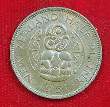 Half Penny 1951 Neuseeland New Zealand King George the Sixth