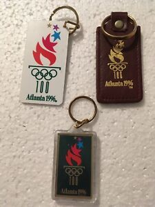 1996 Atlanta Olympic group of 3 keychains, including BMW