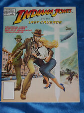 INDIANA JONES & THE LOST CRUSADE, Marvel Magazine, 1989, 78 pgs, BW, FINE MINUS