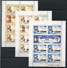 Kiribati 1981 SG#149-153 Royal Wedding MNH Sheetlets Set #R189
