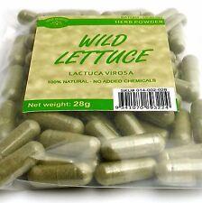 WILD LETTUCE 70 capsules 28 grams wildcrafted Lactuca virosa powder 400mg caps.