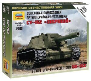 Soviet Self Propulsé Gun Su-152 1:100 Plastique Model Kit Zvezda