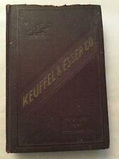 Keuffel & Esser Catalog  K & E 37th Edition 1927Price List 1937 Drafting Supply