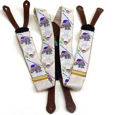 Republican Silk Suspenders Fathers Day Bracers American Flag White House Party