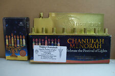 Yale Happy Chanukah menorah celebrate the festival of lights Complete Set In Box