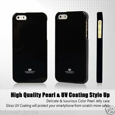 iPhone 5/5s & SE Genuine MERCURY Goospery Metallic Black Soft Jelly Case Cover