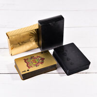 Waterproof Plastic Playing Cards Gold Diamond Poker Cards Creative Gift  FLY