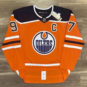Edmonton Oilers Connor McDavid NHL Hockey Jersey Adidas Authentic Adizero 56 XXL