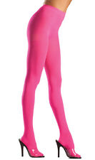 Opaque Nylon Pantyhose Hosiery Neon Costume Regular or Plus Size BW620