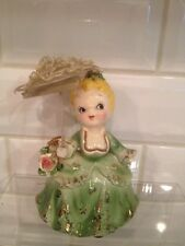 Vintage Ceramic Girl With Umbrella Figurine 5 1/2""