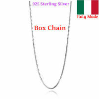 Chain Box Necklace 925 Solid Sterling Silver Italy Rope Cable Sizes 14k Italian