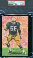 Ray Nitschke PSA DNA Coa Hand Signed Goal Line Card Glac Autograph