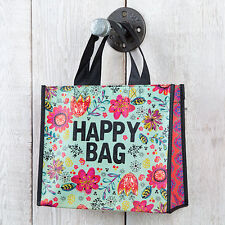 HAPPY BAG  medium sized Natural life. Recycled from plastic bottles. Reusable!