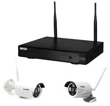 WLAN FUNK HD Komplettset Videoüberwachung �œberwachungskamera kabellos Internet