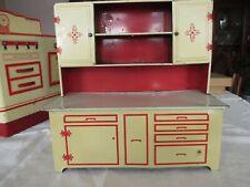 Vintage 40s-50s WOLVERINE KITCHEN CUPBOARD/CABINET -  TIN TOY