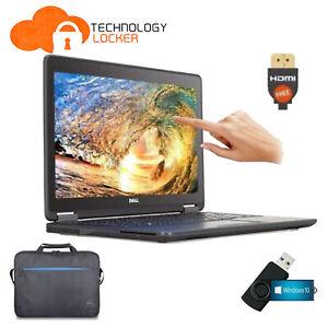 Dell Latitude E7250 Touch Laptop Intel i7-5600U 16GB RAM 256GB SSD Win 10 4G FHD