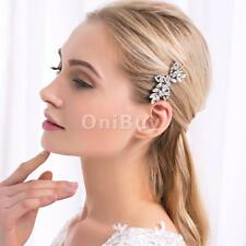 Silver Women Leaf Leits Hair Clip Barrette Fashion Hairpin Jewelry