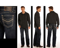 Rock /& Roll Cowboy Men/'s Double Barrel Relaxed Fit Straight Leg Jeans M0S1612