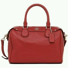 Coach Leather Messenger & Cross Body Handbags