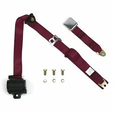 3Pt Burgundy Retractable Seat Belt Airplane Buckle - Each bbc apu jr dragster
