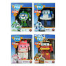 4pcs Robocar POLI ROY AMBER HELLY Transformers Robot Car Figure Kids Gift Toy