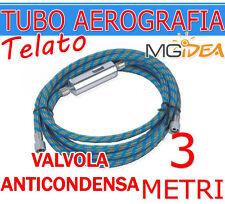 """TUBO ARIA TELATO AEROGRAFIA 3 METRI + VALVOLA ANTICONDENSA AEROGRAFI + 2X 1/8"""""""