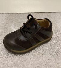dc45cac70251 Striderite Dark Brown Lace Baccio Shoes Little Boys Size 5.5 M