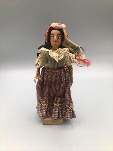 Vintage San Salvador South American Folk Art Handmade Doll Marked 1941