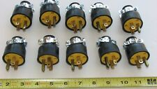 10PC  PACK  15 AMP MALE REPLACEMENT ELECTRICAL PLUG ENDS 10 MALE 110 - 125 VOLT