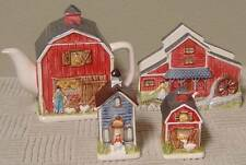 Farmhouse Set by Otagiri - Tea Pot, Napkin Holder & Salt & Pepper Set