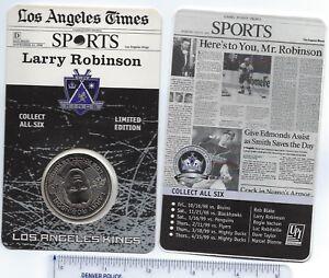 LA Kings Hockey Coin 1998/99 Larry Robinson SGA