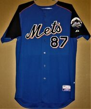 NEW YORK METS MARK BREWER #87 BATTING PRACTICE MLB Size 46 Majestic JERSEY