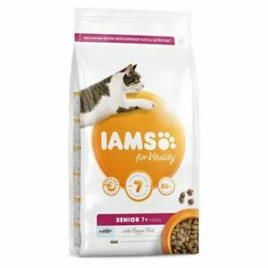 IAMS for Vitality Senior Dry Cat Food with Ocean Fish Kibble 800g Pack Protein
