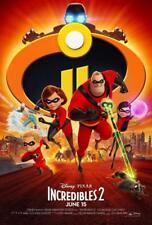 "DISNEY PIXAR'S INCREDIBLES 2 - 13.5""x20"" Original Promo Movie Poster MINT 2018"