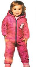 Größe 62/68 Baby Winteroverall Mädchen Schneeoverall Schneeanzug Overall Kapuze