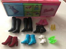 Barbie Schrank Koffer Aufbewahrung  Konvolut Sammlung Schuhschrank Mit Schuhen