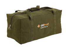OZTRAIL XL CANVAS DUFFLE BAG Luggage Overnight Travel Carry extra large