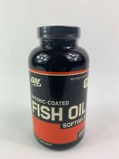 Optimum Nutrition FISH OIL  Enteric Coated  200 Softgels  Exp 11/2020