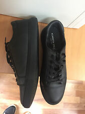 Kenneth Cole new york womens sneakers Size 8 black leather
