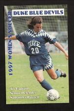 Duke Blue Devils--1997 Soccer Pocket Schedule