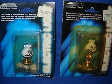 Pair of hurricane lamps, electrified, Miniature House, NIB, 1:12 scale, #539