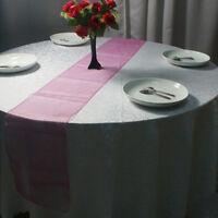 275cm x 30cm 10Pcs Sheer Organza Table Runner Wedding Party Banquet Decoration