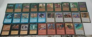 MAGIC THE GATHERING Mixed Card Lot of 48 Older Deckmaster Cards 1995 Wizards