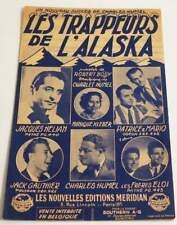 Partition sheet music JACQUES HELIAN : Les Trappeurs de l'Alaska * 40's HORNER