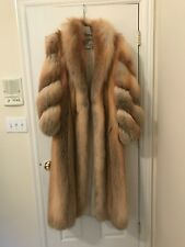 Stunning Golden Island Fox Fur Coat Full Length Authentic