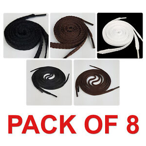 Shoes Laces Round Trainer Work Boot Flat Shoe Lace Shoelaces White Black Brown