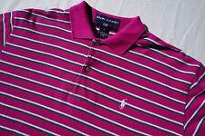 Ralph Lauren Polo Sport Vintage Pique Golf Shirt. Purple Stripe, Men's Size M.