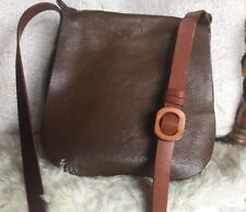 Henry Cuir Beguelin Cross Body Saddle Bag Italy $1500 Leather Arlequin calumet