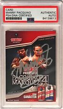 2012 Tecate Beer Manny Pacquiao Pacman Marquez Signed Trading Card PSA/DNA